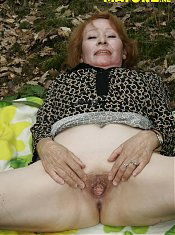 Granny loves a good cock in the forest