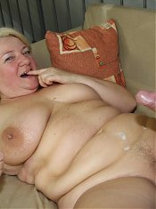 Fat mature slut can't resist the chance to fuck this young man and feel him inside her pussy