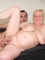 His mother in law is all over his hard cock for her sticky wet granny pussy hole