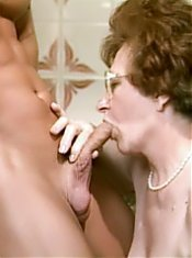 Horny oldie Sabrina gets a young stud and got herself jizzed and fucked in this mature fuckfest live