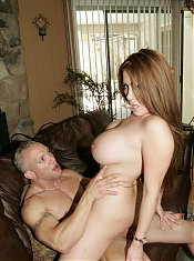 Kianna Dior lets her big boobies hang while she gets her MILF pussy doggy fucked